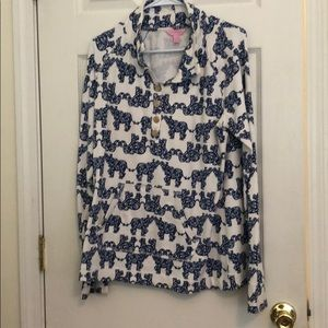 Lilly Pulitzer button up pullover